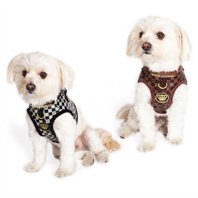 Dogs of Glamour Check Chain Harness