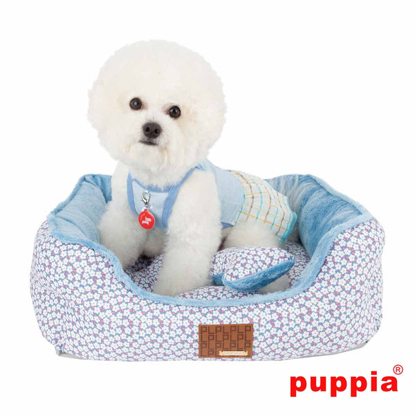 Puppia Hawthorn Dog Bed - Blue