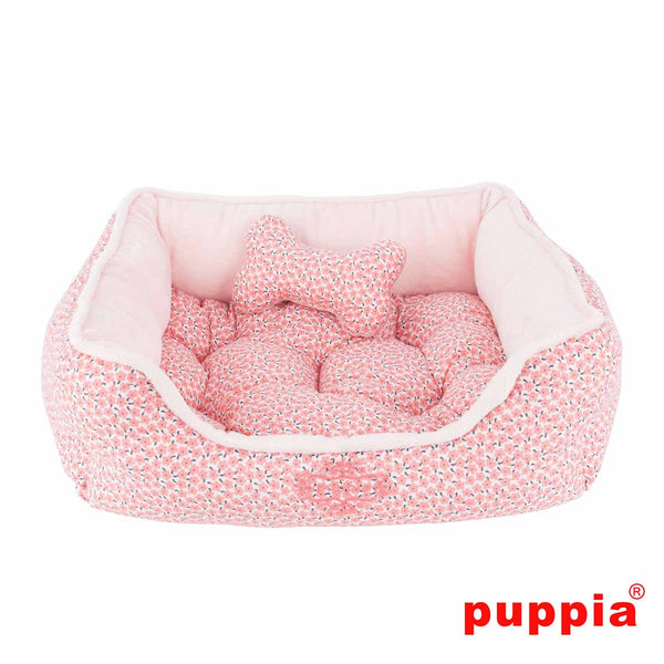 Puppia Hawthorn Dog Bed - Light Pink