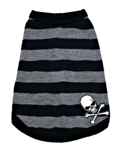 "Hip Doggie ""Stripe Skull"" Dog Tank Top"