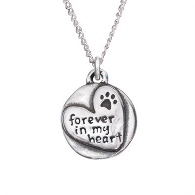 "Rockin Doggie Forever In My Heart Sterling Silver Pendant on 18"" Curb Chain"