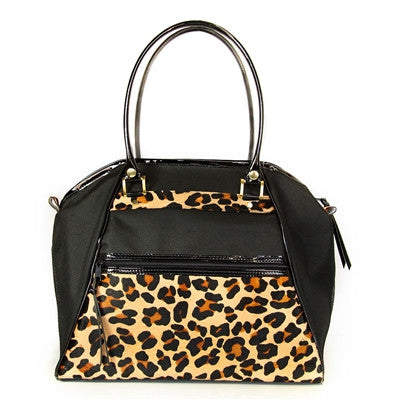 "Petote ""Haylee"" Leopard Dog Carrier - Airline Approved"