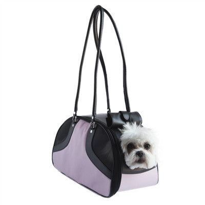 "Petote ""Roxy"" Pink & Black Dog Carrier - Airline Approved"