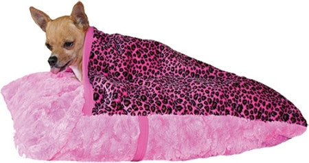 "Pet Flys ""Pink Leopard Pet Pocket"" Dog Bed"