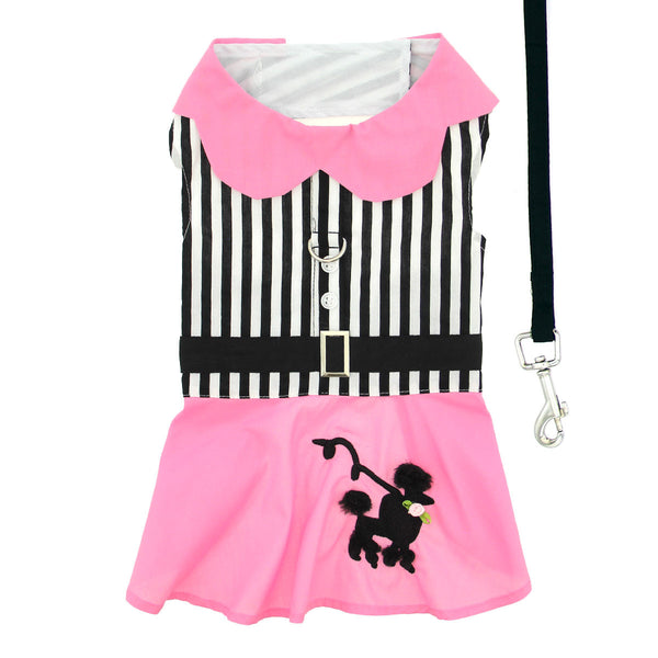 "Doggie Design ""Pink Poodle"" Designer Dog Harness Dress"