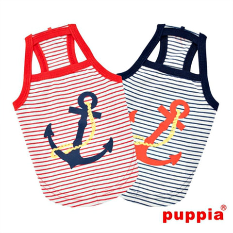 "Puppia ""Mariner"" Dog Tank Top - Red"