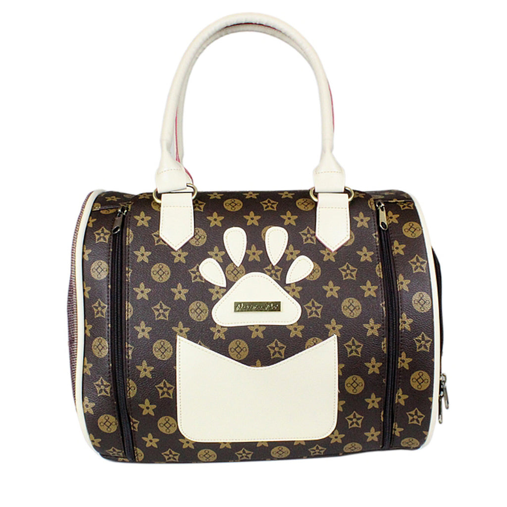 Versailles Dog Carrier - Brown