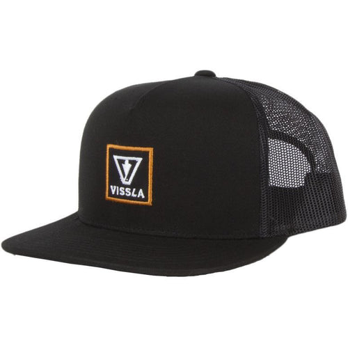 Vissla Windows Black Trucker Cap Meshback Snapback MAHT6WIN
