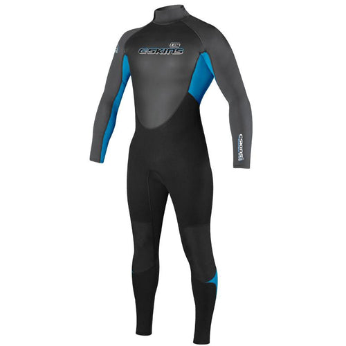 C-Skins Mens Element 3/2 Wetsuit Black / Blue / Graphite