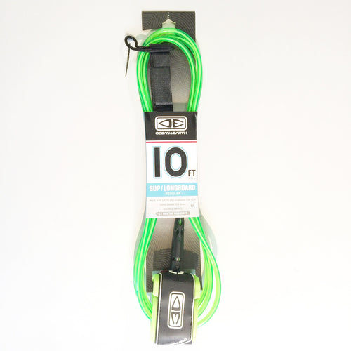 Ocean & Earth Regular SUP/Longboard 10' Lime Surf Leash