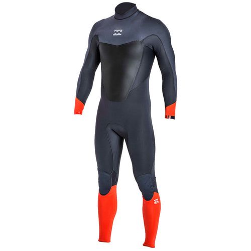 Billabong 2017 Absolute Comp 5/4 Back Zip Wetsuit Orange Z45M08