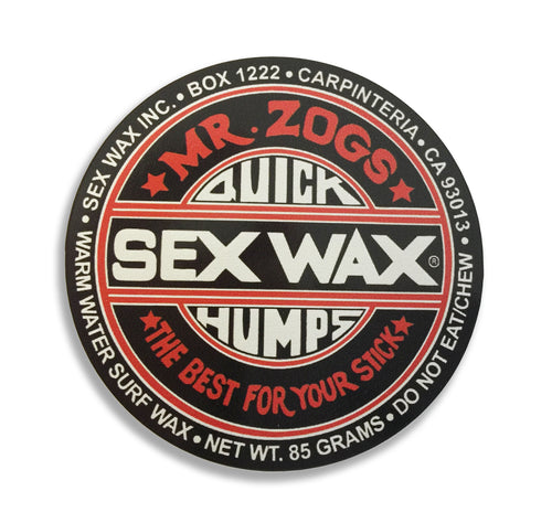 "Sex Wax 3"" Sticker Black"