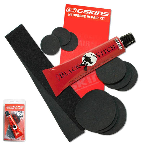 C-Skins Black Witch Wetsuit Neoprene Repair Kit Glue Adhesive and Patches
