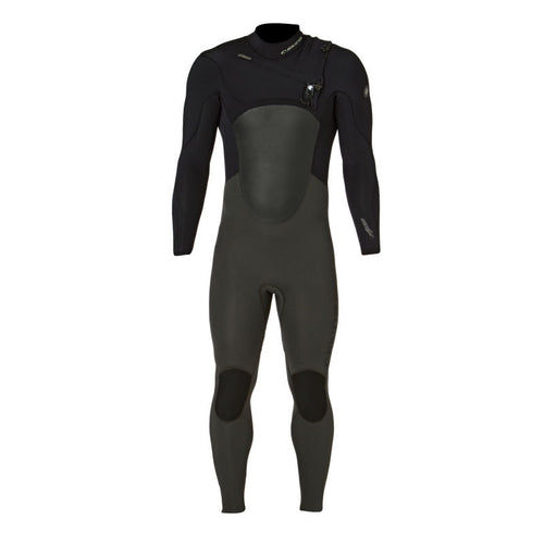 2017 C-Skins Wired 5/3 Chest Zip Wetsuit Grey Black