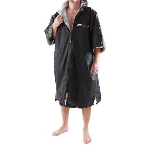 Dryrobe Advance Short Sleeve Black Grey