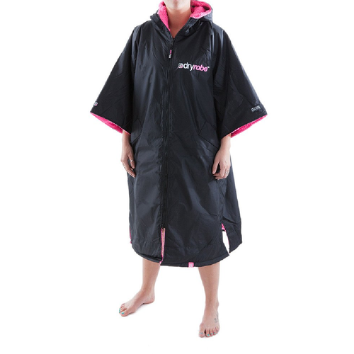 Dryrobe Advance Short Sleeve Black Pink