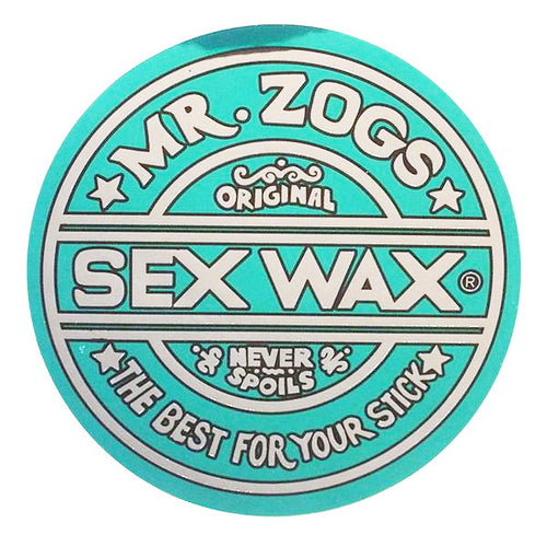 "Sex Wax 3"" Sticker Metallic Green"