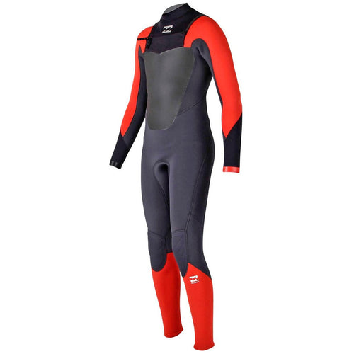 Billabong 2017 Boys Absolute Comp 3/2 Chest Zip Wetsuit Orange Z43B03