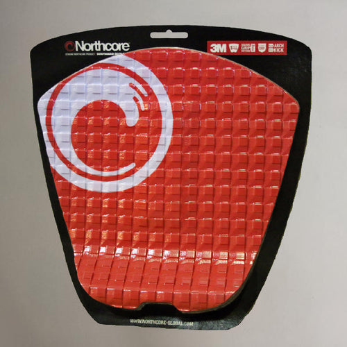 Northcore Surfboard Deck Grip Tailpad Red