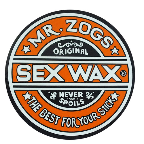 "Sex Wax 7"" Sticker Solid Orange"