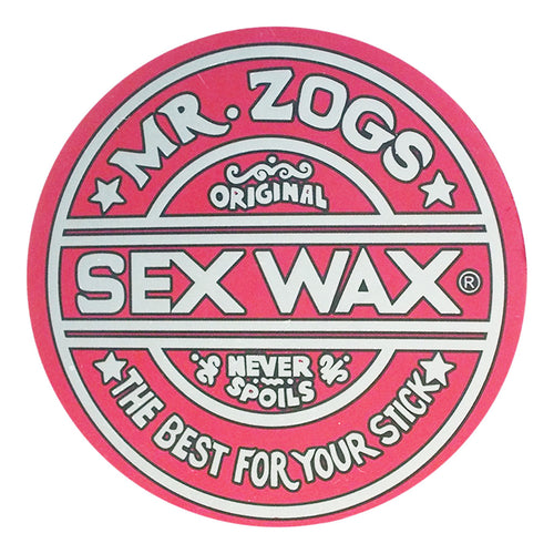 "Sex Wax 7"" Sticker Metallic Red"