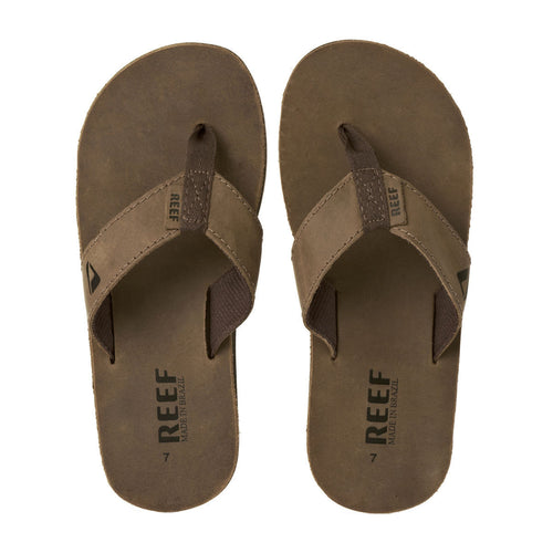 Reef Leather Smoothy Mens Sandals Brown