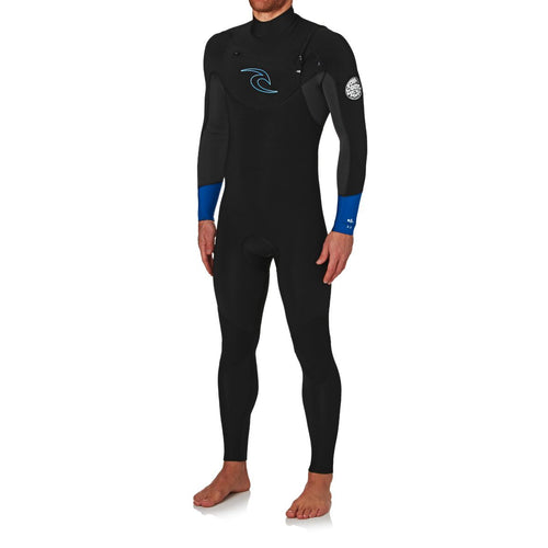 2017 Rip Curl Dawn Patrol 3/2mm Chest Zip Wetsuit Blue WSM6AM