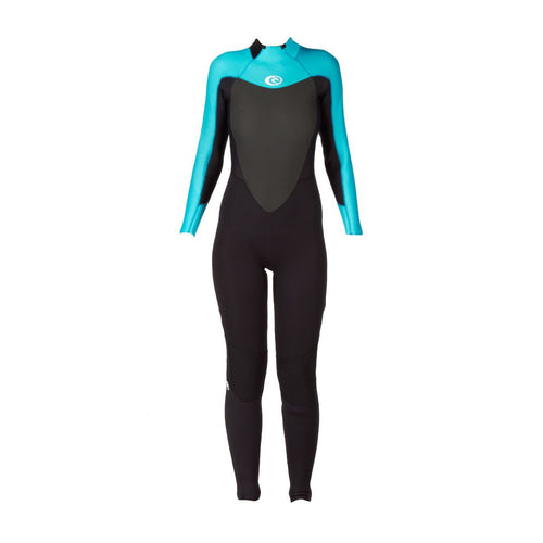 2017 Rip Curl Womens Omega 3/2mm GBS Back Zip Wetsuit Turquoise WSM4LW