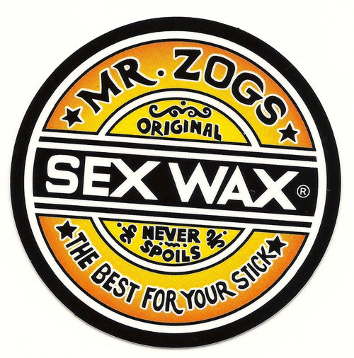 "Sex Wax 3"" Sticker Orange Fade"