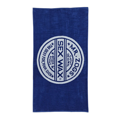 Mr Zogs Sex Wax Towel Blue White