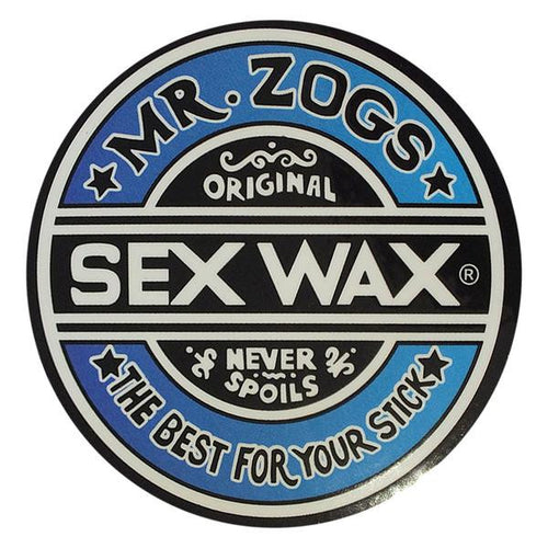 "Sex Wax 3"" Sticker Blue Fade"