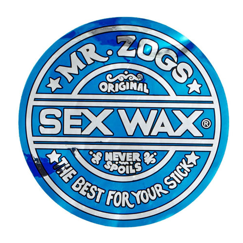 "Sex Wax 3"" Sticker Metallic Blue"