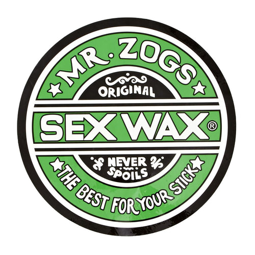"Sex Wax 7"" Sticker Solid Green"