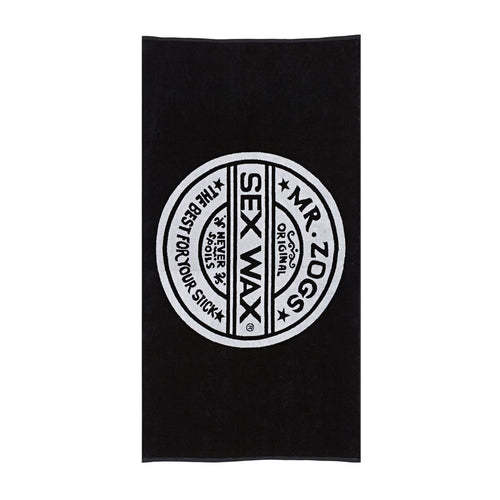 Mr Zogs Sex Wax Towel Black White
