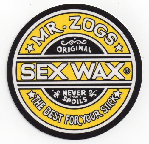 "Sex Wax 7"" Sticker Solid Yellow"