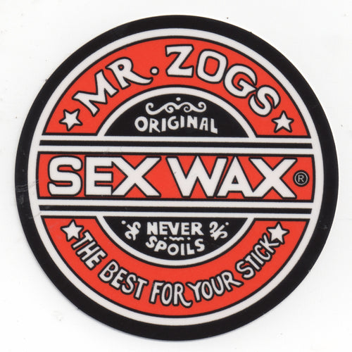 "Sex Wax 3"" Sticker Solid Red"