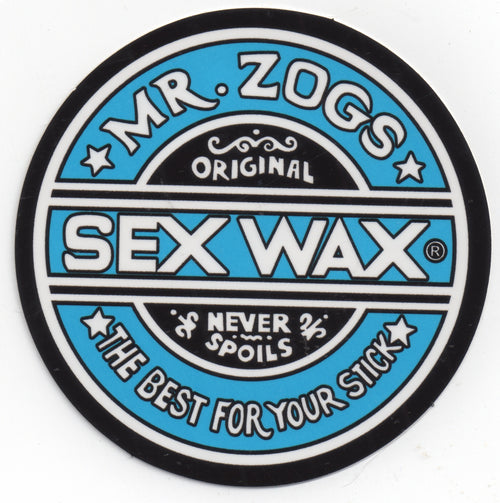 "Sex Wax 7"" Sticker Solid Blue"