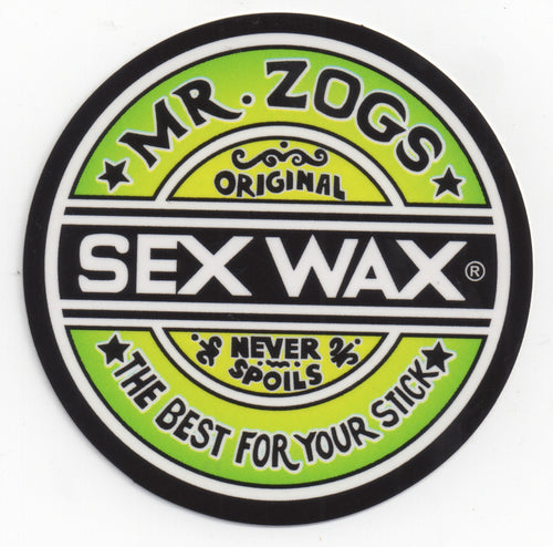 "Sex Wax 7"" Sticker Green Fade"