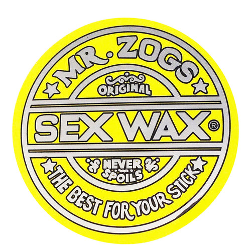 "Sex Wax 3"" Sticker Metallic Yellow"