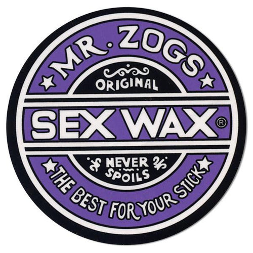 "Sex Wax 7"" Sticker Solid Purple"