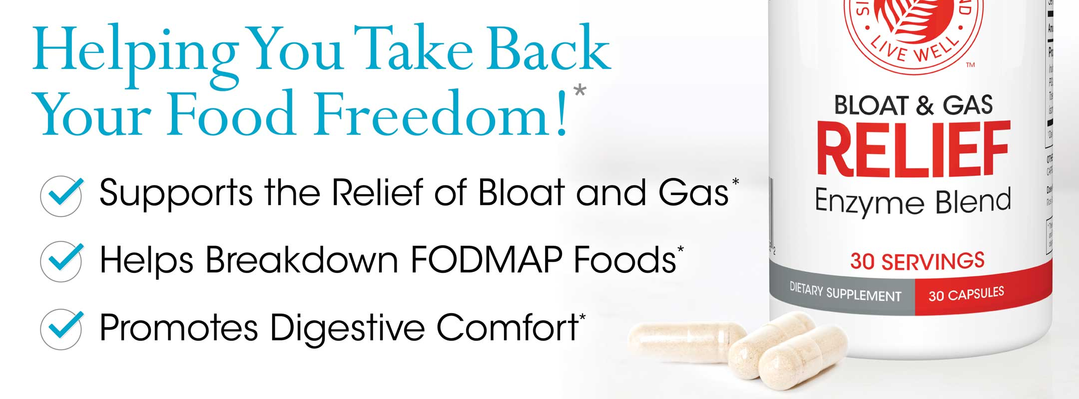 Gas & Bloat Relief - Helping You Take Back Your Food Freedom!