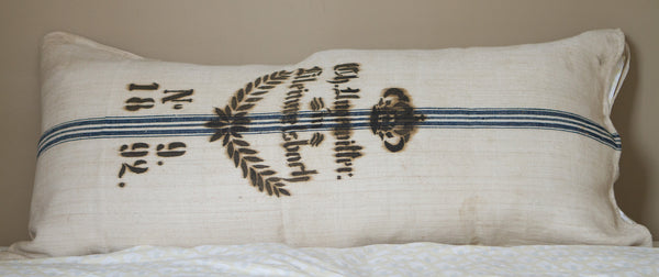 Vintage Grain Sack Extra Lg Pillow