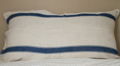 Vintage Grain Sack Ex Large Pillow