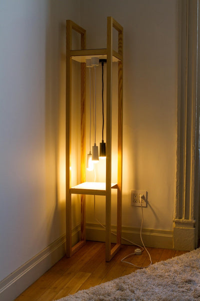 Modern recycled floor lamp