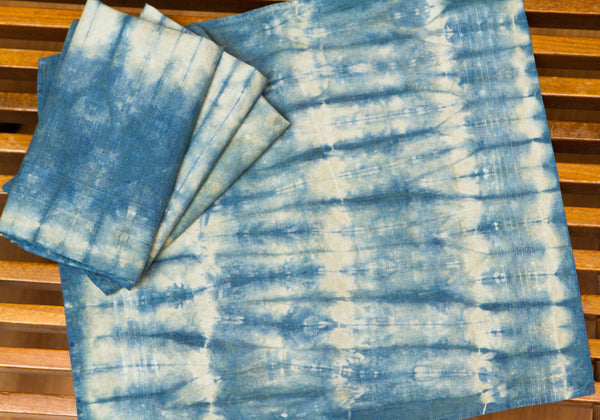 Medium Blue Shibori Napkins