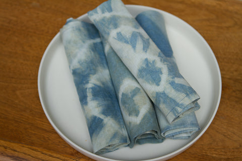 Blue Green Shibori Napkins