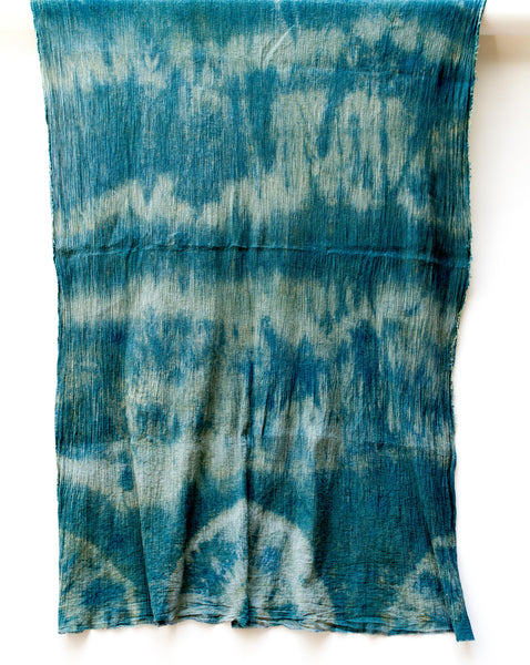 "Shibori Crinkle Cotton Scarf ""Freestyle"""