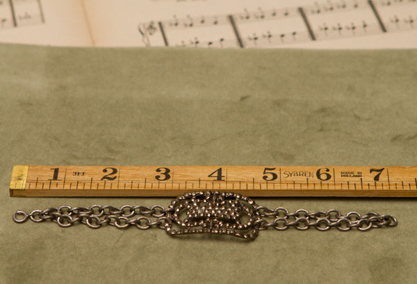 Vintage Buckle Bracelet Small Ornate Rectangle