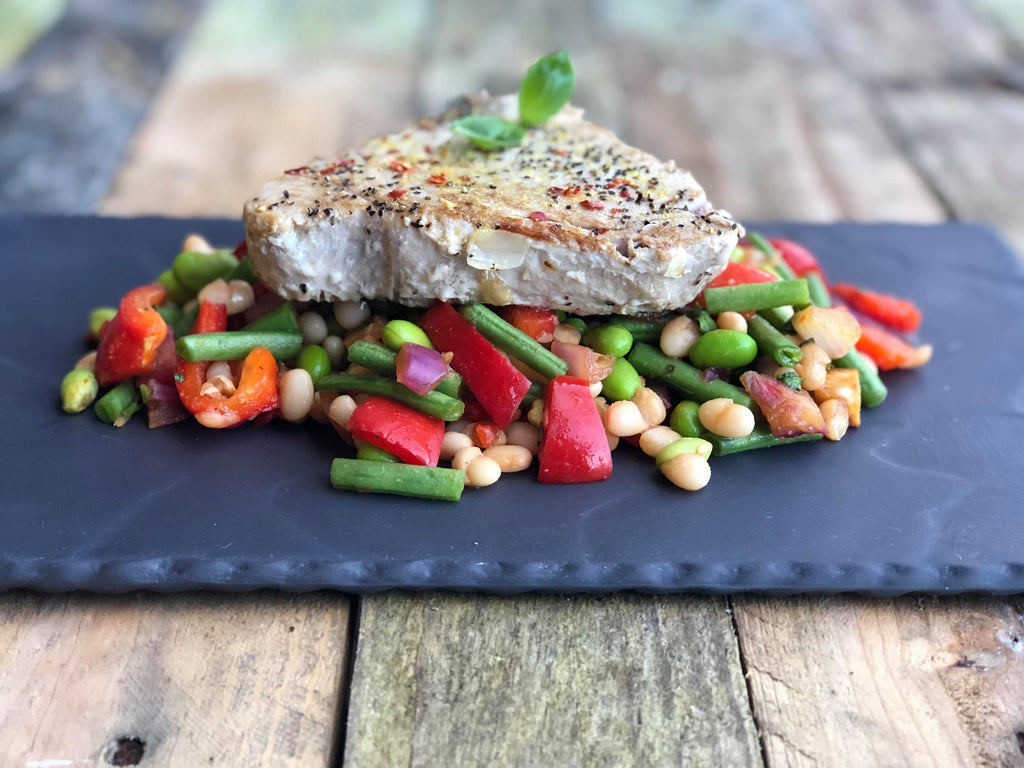 Tuna Steak & Bean Salad