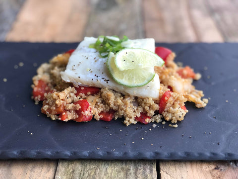 Ginger & Spring Onion Cod with Quinoa Salad